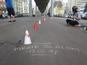 Pirate Slalom skateboard Riderz Paris