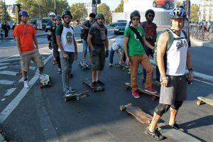 randonnee skate board paris riderz