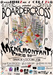 Affiche Boardercross Menilmontant Riderz 2014