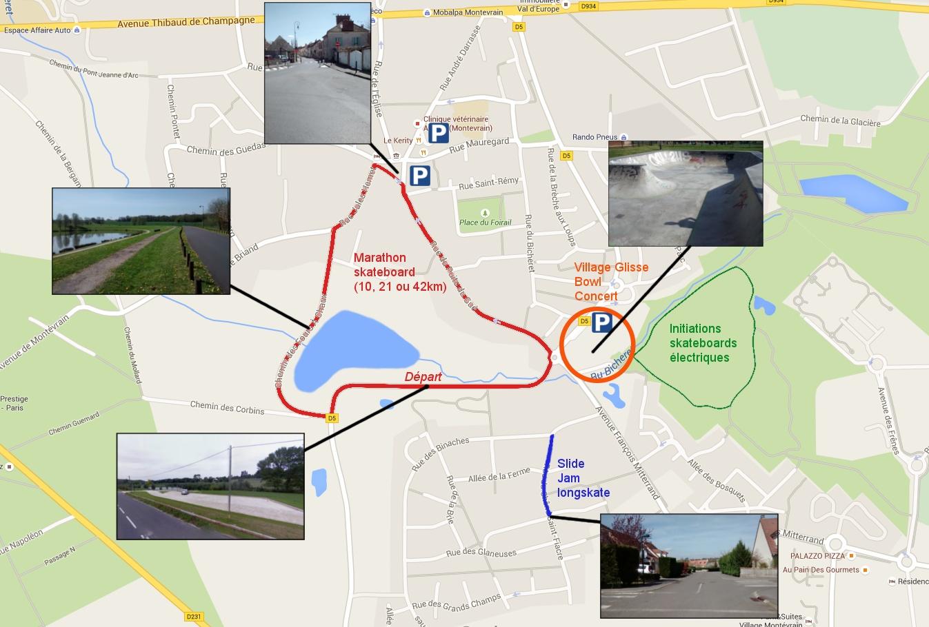 Plan Montevrain Ride Challenge