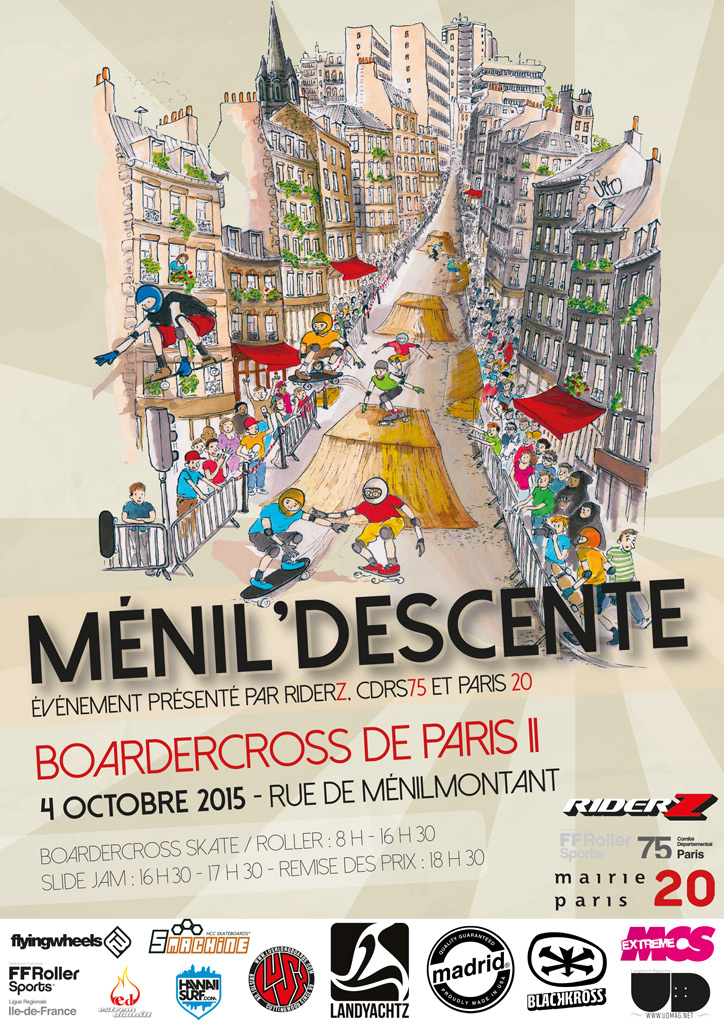 Boardercross Ménil'Descente – Affiche 2015