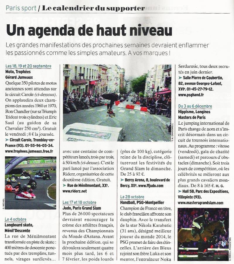 L'Express du 16 Septembre 2015 sur Ménil'Descente Paris