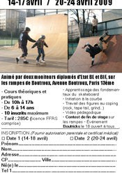 Stages de skateboard à Boutroux en avril