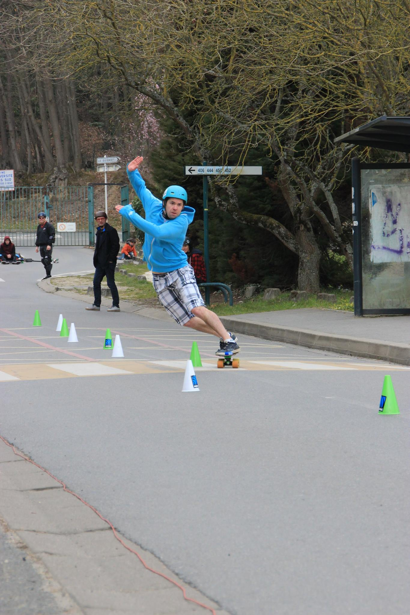 Vincent Tanguy - Hybrid slalom - Pirate slalom skateboard d'Orsay