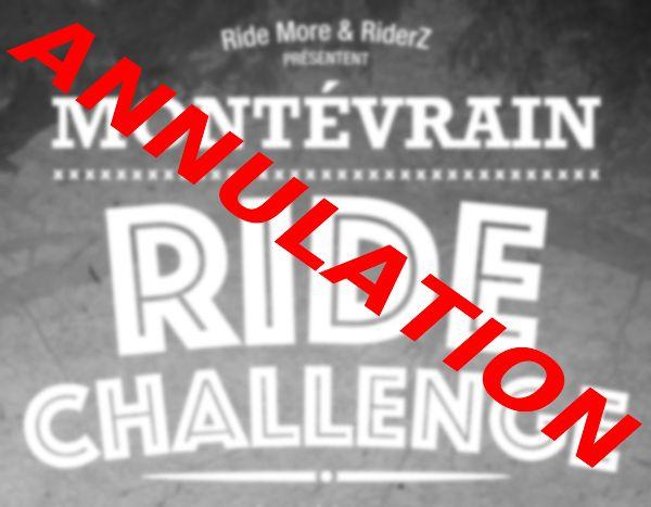Annulation du montévrain ride challenge 2016