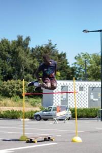 Abou au saut en hauteur Championnat de France longboard 2016 Nantes