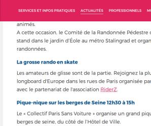 Refus d'autorisation de la Grosse Rando de Paris
