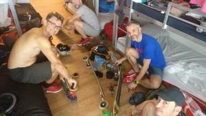 Préparation matériel LDP skateboard pour 24h de course