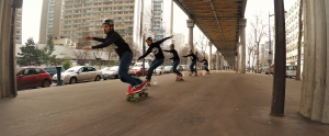 Slalom skateboard Paris Chevaleret