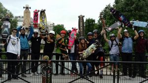 Randonnée skateboard a Paris Riderz