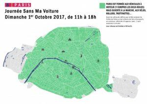 Périmètre journée sans voiture 2017 paris