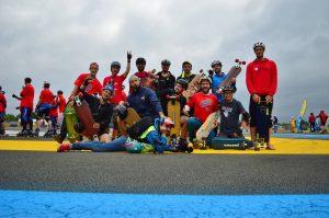 Team skateboard 24h du mans roller, photo de Clémence Matagrin