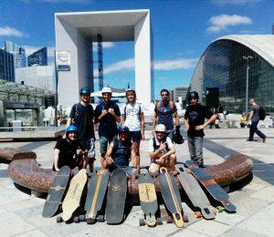 Randonnée en skateboard à Paris Riderz