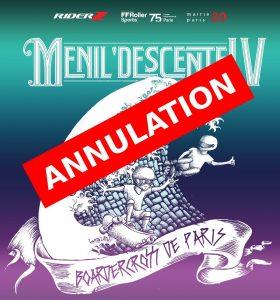Annulation du boardercross de Ménilmontant 2017