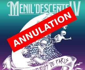 Annulation de Ménil'Descente 2017