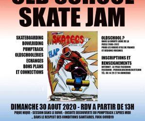 8e Paris Old School Skate Jam 2020 à Montévrain dimanche